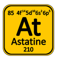 Periodic table element astatine icon vector image vector image