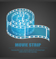 reel film isolated icon vector image vector image