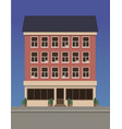 residential multi-storey house made of red brick vector image