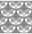 Seamless floral pattern Black and white Coloring vector image vector image