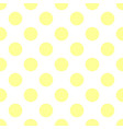 seamless pattern with tile yellow polka dots vector image vector image