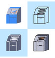 sequenator machine icon set in flat and line style vector image vector image
