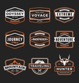 set badge logo outdoor adventure and traveling vector image vector image