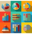 Set of modern flat infographic elements - pie vector image vector image