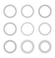 set of round decorative frames vector image vector image
