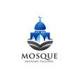simple minimalist mosque building logo vector image vector image