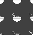Spaghetti icon sign Seamless pattern on a gray vector image