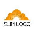 Sun logo template set icon vector image vector image