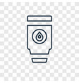 tumbler concept linear icon isolated on vector image vector image