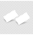 two white business cards on a transparent vector image vector image