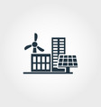 urban development creative icon monochrome style vector image