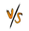 vs versus battle symbol vector image vector image