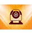 Webcam icon symbol Flat modern web design with vector image