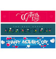 website banners happy mothers day vector image vector image