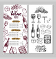 wine restaurant menu 6 vector image