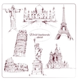 World landmark sketch vector image vector image