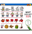 wrong picture task for kids vector image vector image