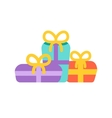 Birthday party set icons or elements vector image