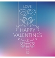 Happy valentines day card Birds on the crown of a vector image