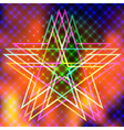 Abstract background with flames and star vector image vector image