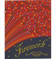 Abstract festive fireworks background vector image