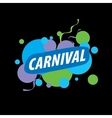 Abstract logo carnival vector image