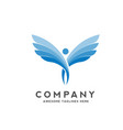 abstract people with wings logo vector image vector image