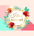 abstract summer tropical floral background vector image vector image