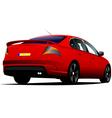 al 0519 rear car vector image vector image