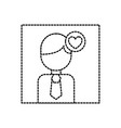 avatar photo love heart social media vector image