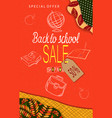 back to school sale modern background with autumn vector image