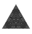 black geometric triangle isolated on white vector image