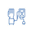 blood pressure measurement line icon concept vector image vector image
