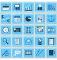 Business and office flat icons