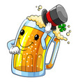 cartoon character an beer vector image