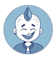 Character smiling punk with mohawk vector image