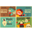 circus poster retro set vector image vector image