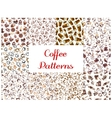 Coffee seamless pattern backgrounds vector image vector image