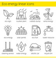 eco energy linear icons set vector image