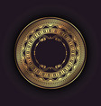 elegant background with gold circular frame vector image vector image