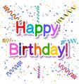 Festive texture happy birthday isolated vector image