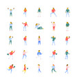 flat icons pack of people vector image