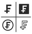 franc currency symbol set vector image vector image