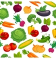 Fresh healthy vegetables seamless pattern Cartoon vector image