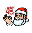funny santa claus christmas greeting card banner vector image