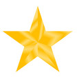 gold star sign gold star on white background vector image vector image