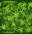 green cannabis leaves seamless background vector image vector image