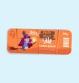 halloween sale poster holiday seasonal discount vector image