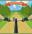 hands on a handlebar a bike pov a cyclist vector image