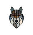 head of a wolf logo template abstract mascot vector image